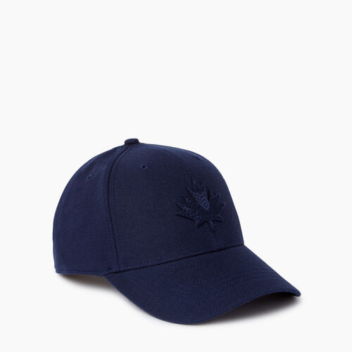 Roots-Men Accessories-Modern Leaf Baseball Cap-Navy-A