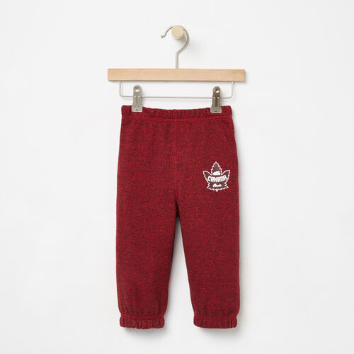 Roots-Kids Collections-Baby Heritage Canada Original Sweatpant-Sage Red Pepper-A
