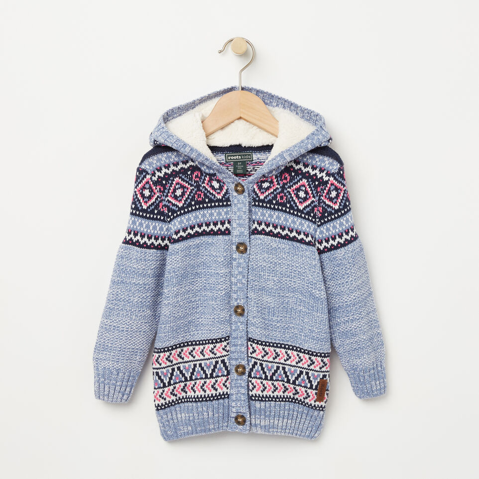 Roots-undefined-Toddler Fair Isle Hooded Sweater-undefined-A