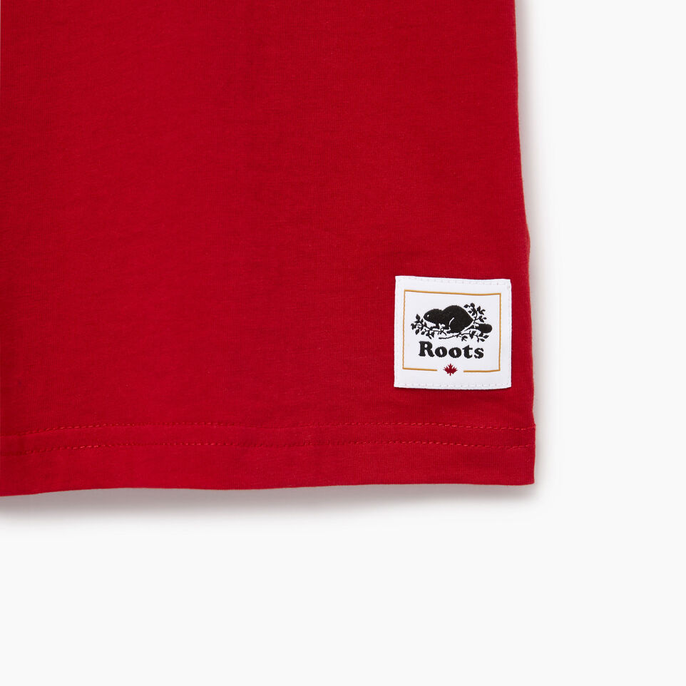Roots-Kids Canada Collection-Boys Canadian Boy T-shirt-Sage Red-C