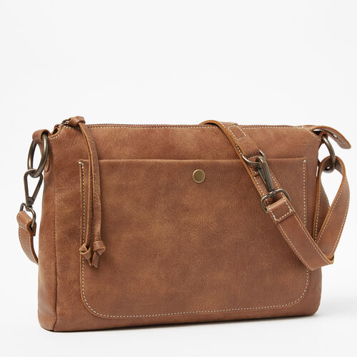 Roots-Leather  Handcrafted By Us Handbags-Sierra Bag Tribe-Natural-A