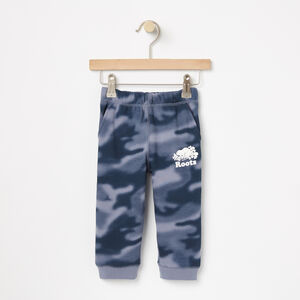 Roots-Kids Sweats-Baby Blurred Camo Slim Sweatpant-Flint Stone-A