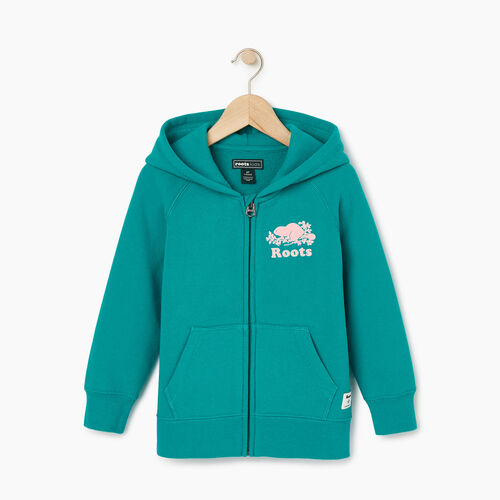 Roots-Clearance Kids-Toddler Original Full Zip Hoody-Dynasty Turquoise-A