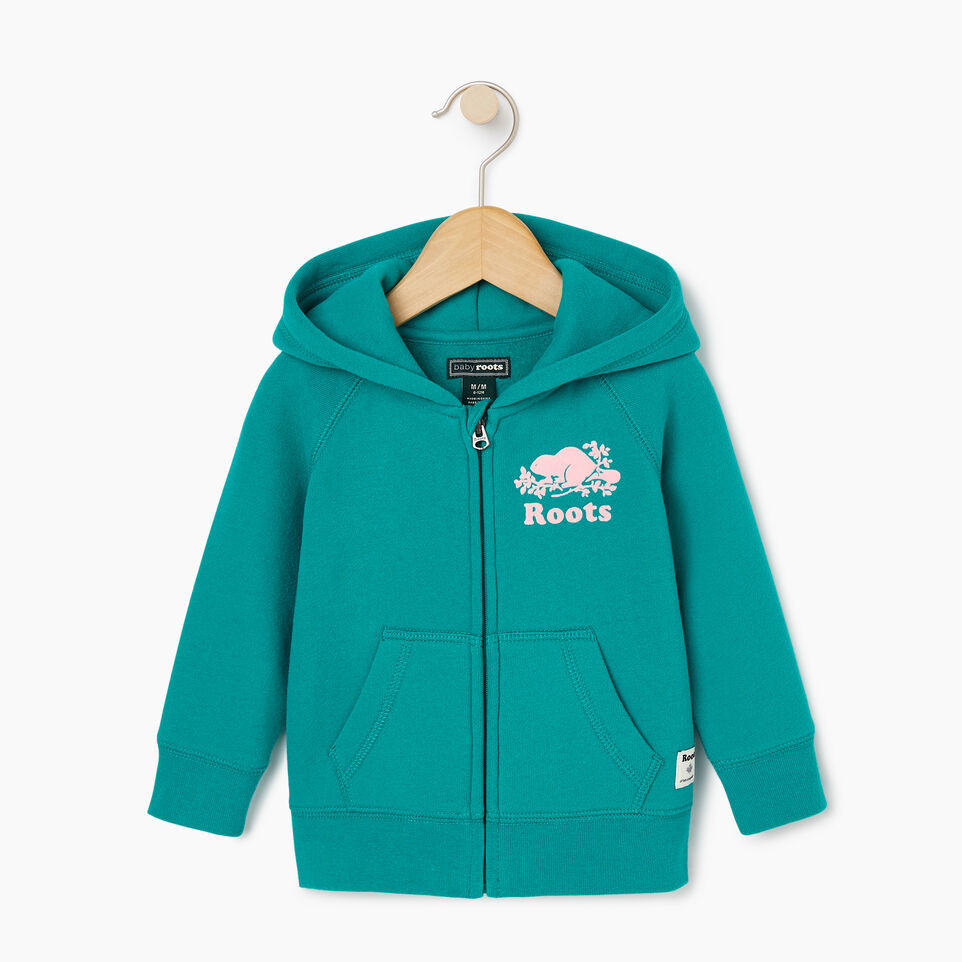 Roots-Sale Kids-Baby Original Full Zip Hoody-Dynasty Turquoise-A