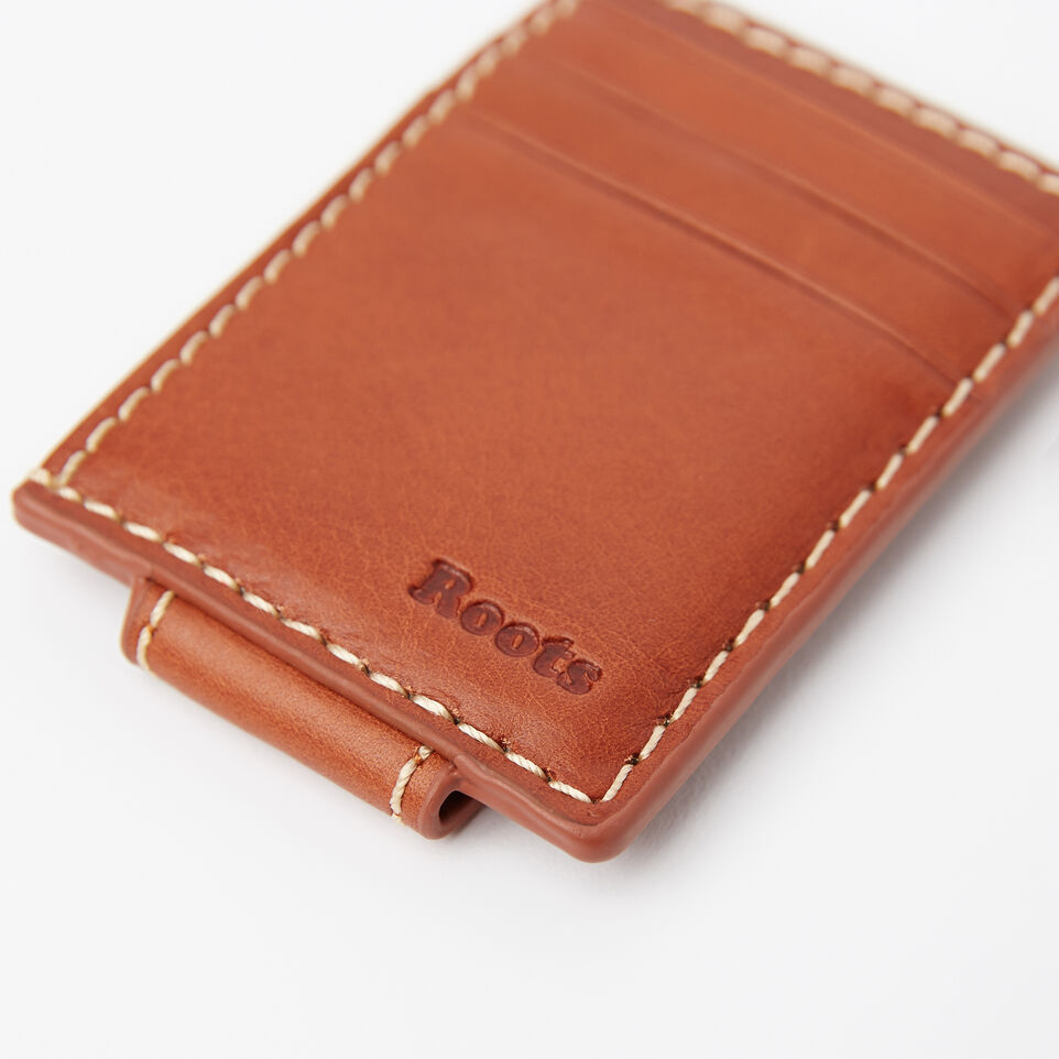 Roots-undefined-Mens Money Clip Card Holder Veg-undefined-D