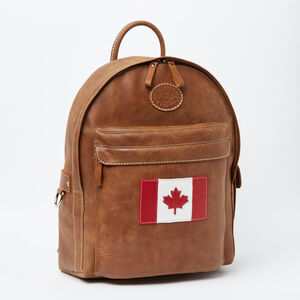 Roots-Leather Backpacks-Student Pack Canada Tribe-Africa-A