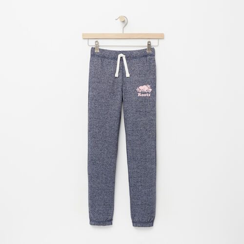 Roots-Kids Bottoms-Girls Original Roots Sweatpant-Navy Blazer Pepper-A