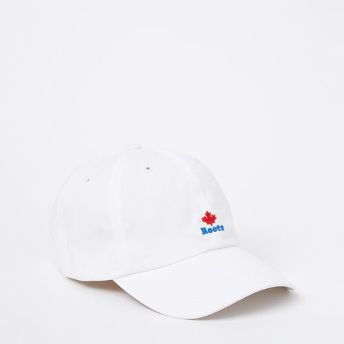 Roots-Men Accessories-Cooper Roots Leaf Baseball Cap-White-A