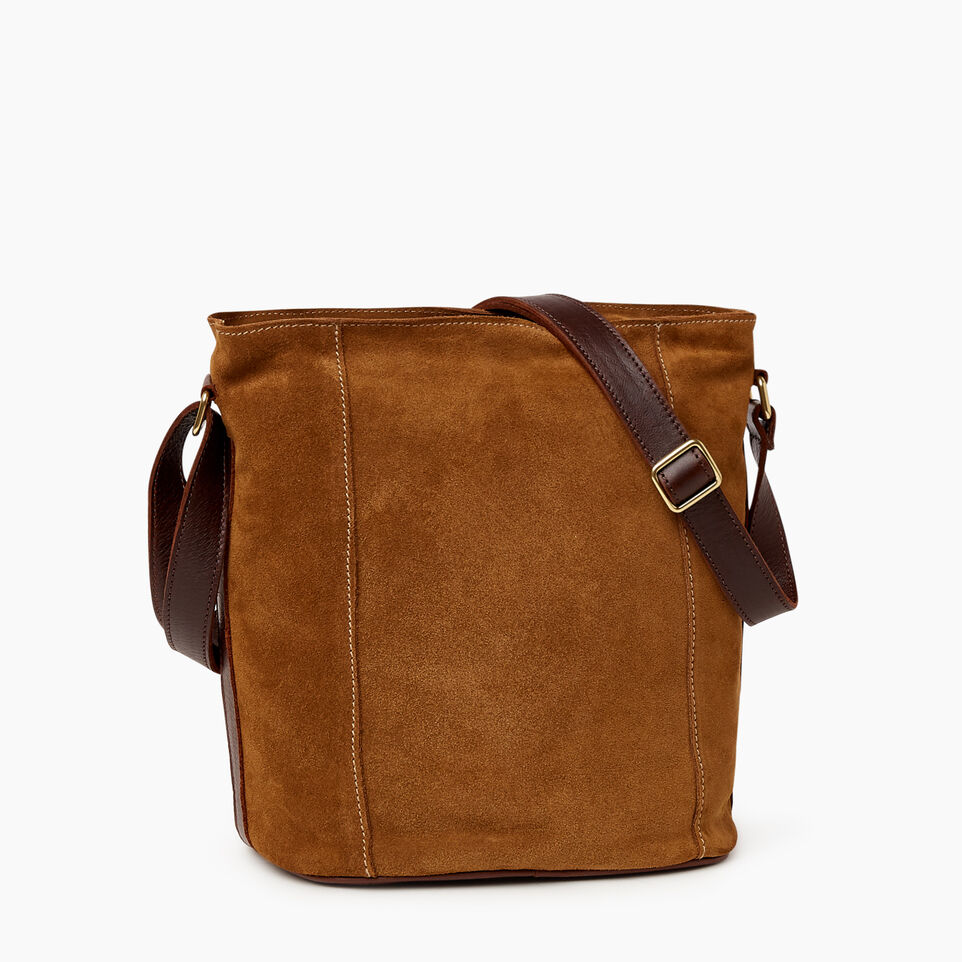 Roots-Leather  Handcrafted By Us Our Favourite New Arrivals-Victoria Bucket Suede-Tan-C