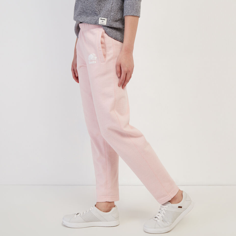 Roots-Sweats Sweatpants-Easy Ankle Sweatpant-Silver Pink Pepper-C