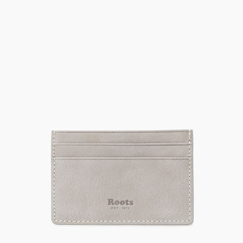 Roots-Leather  Handcrafted By Us Our Favourite New Arrivals-Card Holder Tribe-Sterling Grey-A