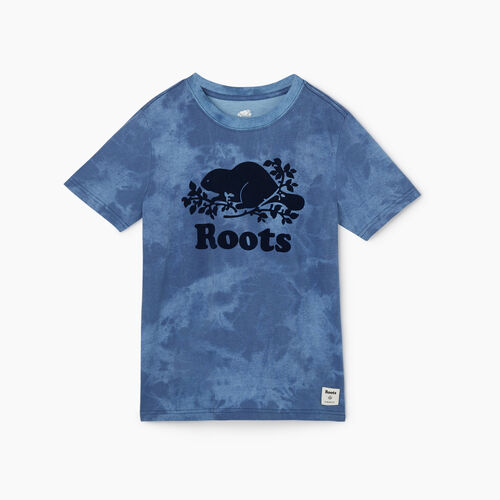 Roots-Kids New Arrivals-Boys Cooper Beaver T-shirt-Federal Blue-A