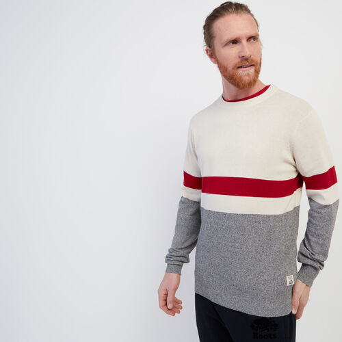 Roots-Men New Arrivals-Cotton Cabin Crew Sweater-Salt & Pepper-A