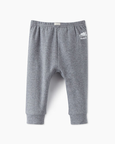 Roots-Sweats Baby-Baby's First Pant-Salt & Pepper-A