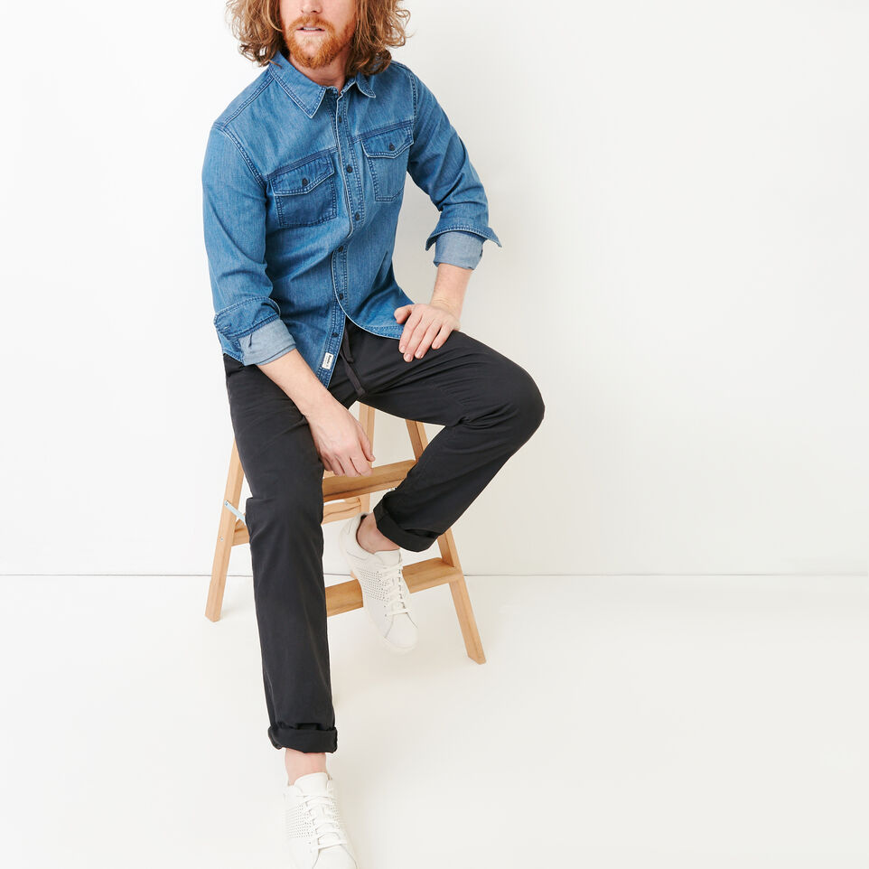 Roots-Men Our Favourite New Arrivals-Essential Pant-Charcoal-B