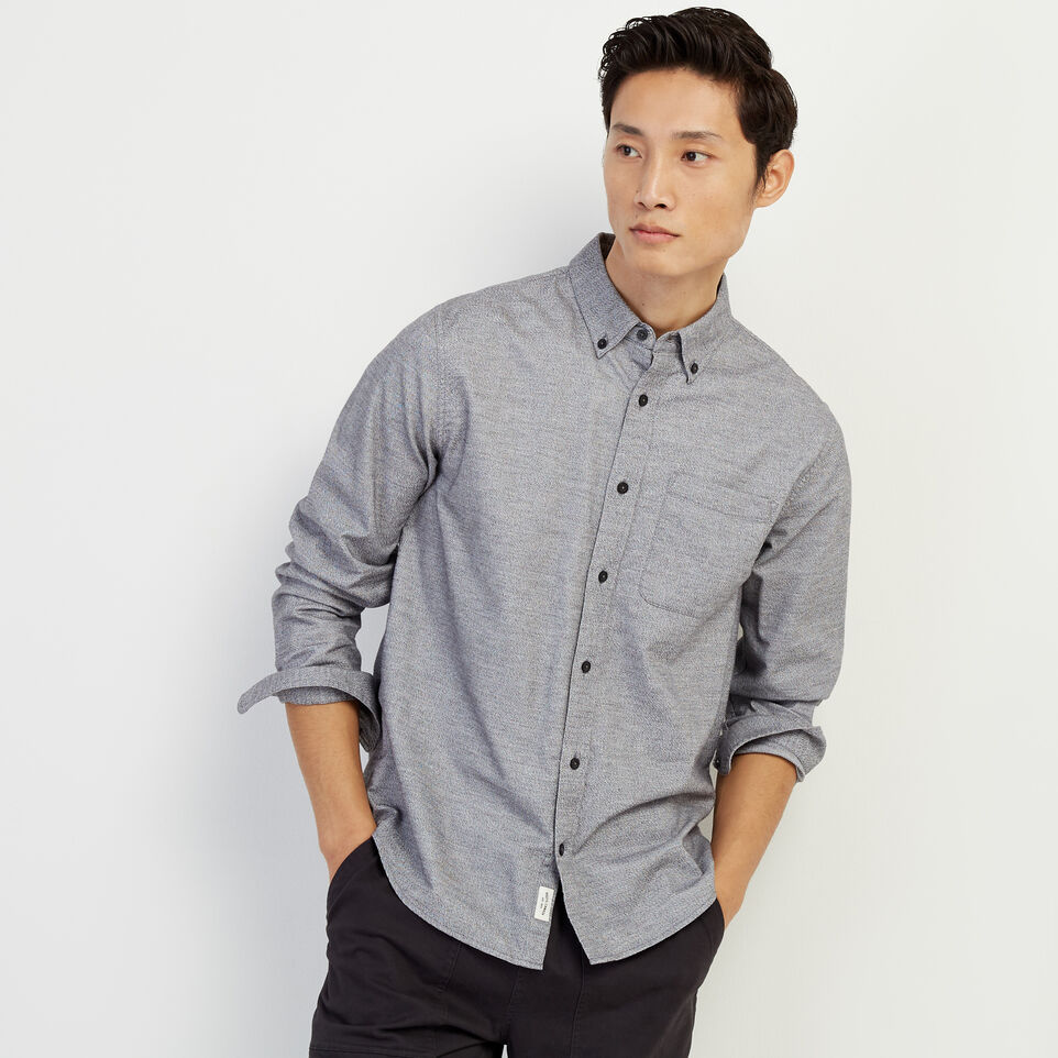 Roots-undefined-Peppered Stretch Oxford Shirt-undefined-A