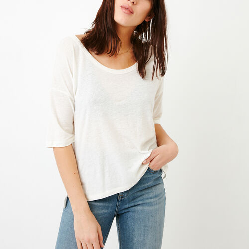 Roots-Women Tops-Nicolet Top-Ivory-A