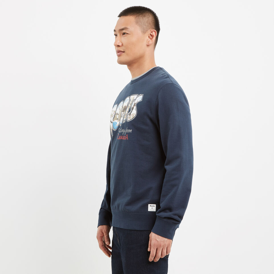 Roots-undefined-Greetings Crew Sweatshirt-undefined-B