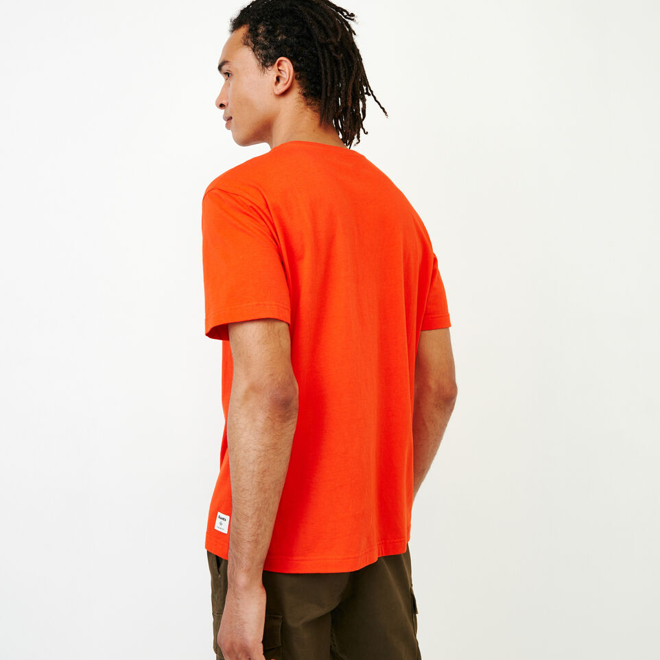 Roots-New For July Men-Mens Cooper Beaver T-shirt-Spicy Orange-E