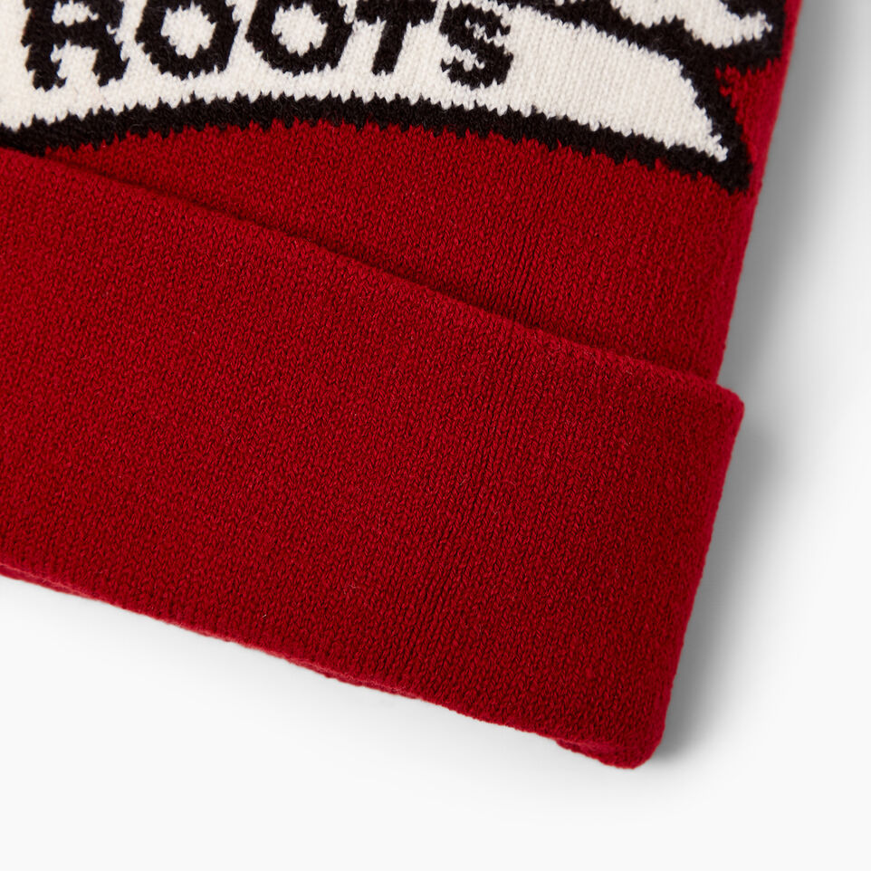 Roots-Men Canada Collection By Roots™-Canada Pom Pom Toque-Red-E