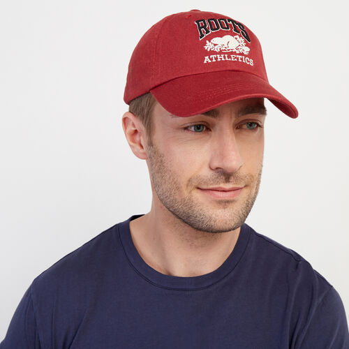 Roots-New For February Rba Collection-Heritage RBA Baseball Cap-Rosewood-A