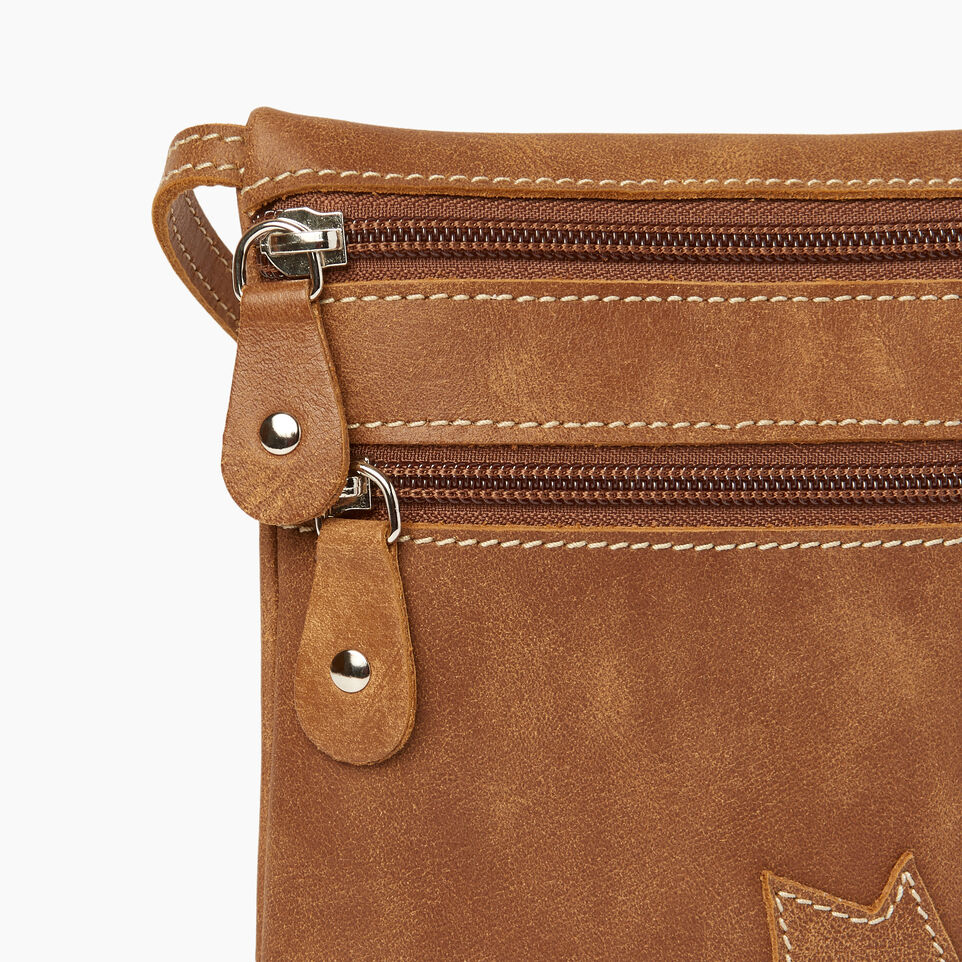 Roots-Leather Canada Collection By Roots™-Trans Canada Pouch-Natural-E