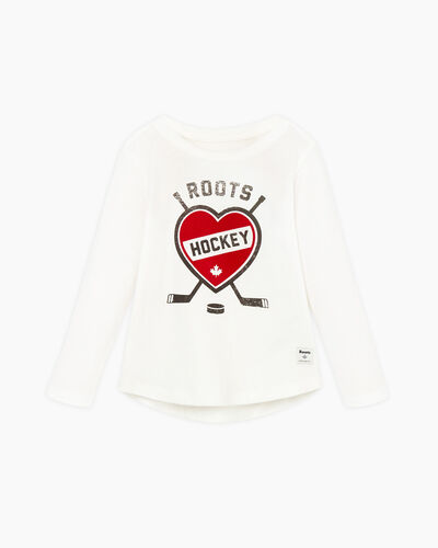Roots-Sale Toddler-Toddler Hockey T-shirt-Ivory-A