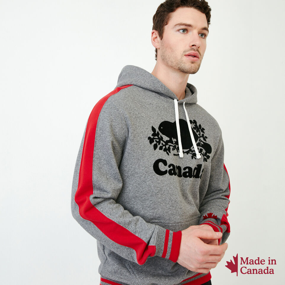 Roots-Men Canada Collection By Roots™-Canada Hoody-Grey Mix Pepper-A
