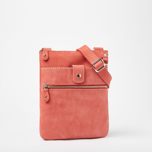 Roots-Women Roots Original Flat Bags-Small Venetian Tribe-Coral-A