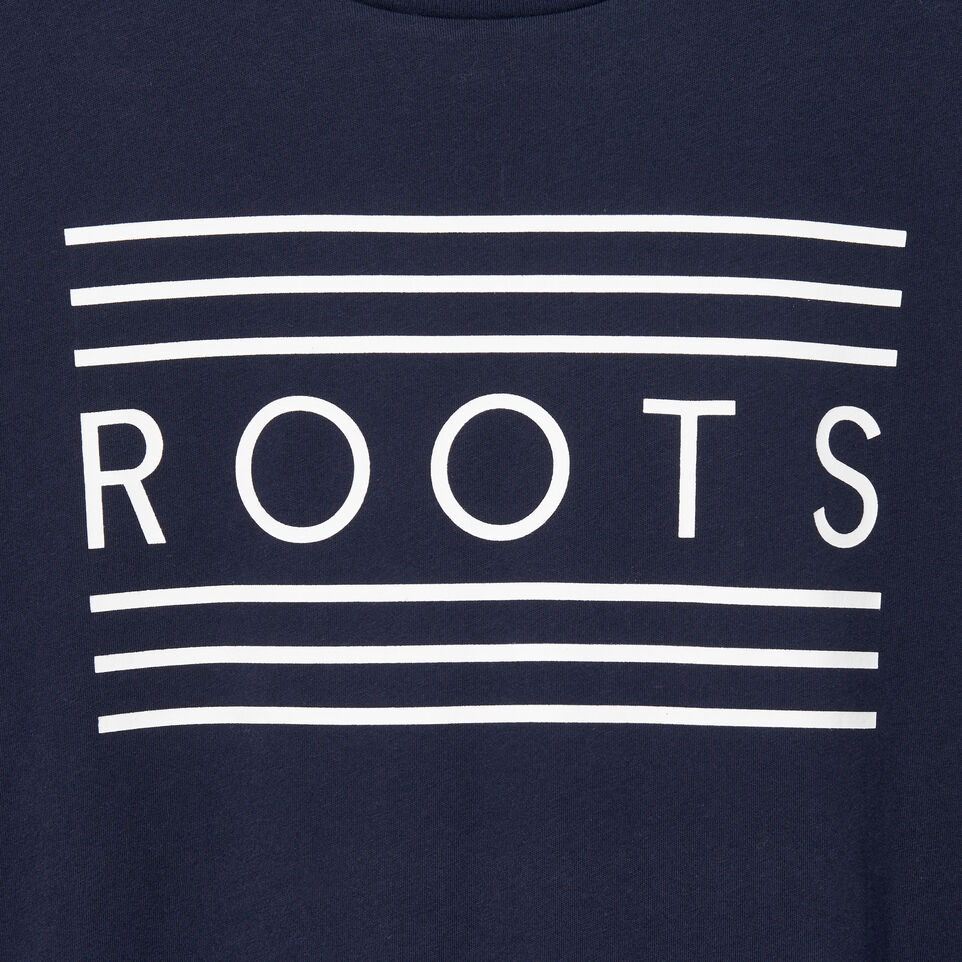Roots-New For July Men-Mens Rainbow T-shirt-Navy Blazer-D