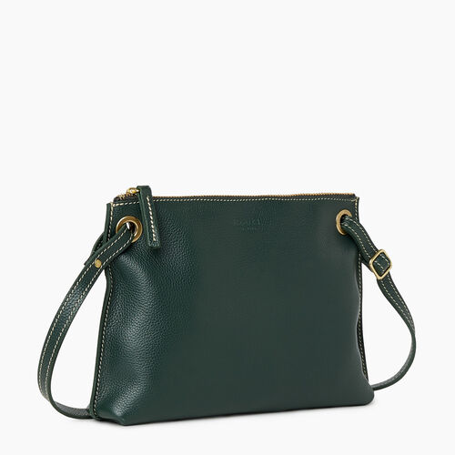 Roots-Leather Bestsellers-Edie Bag Cervino-Forest Green-A