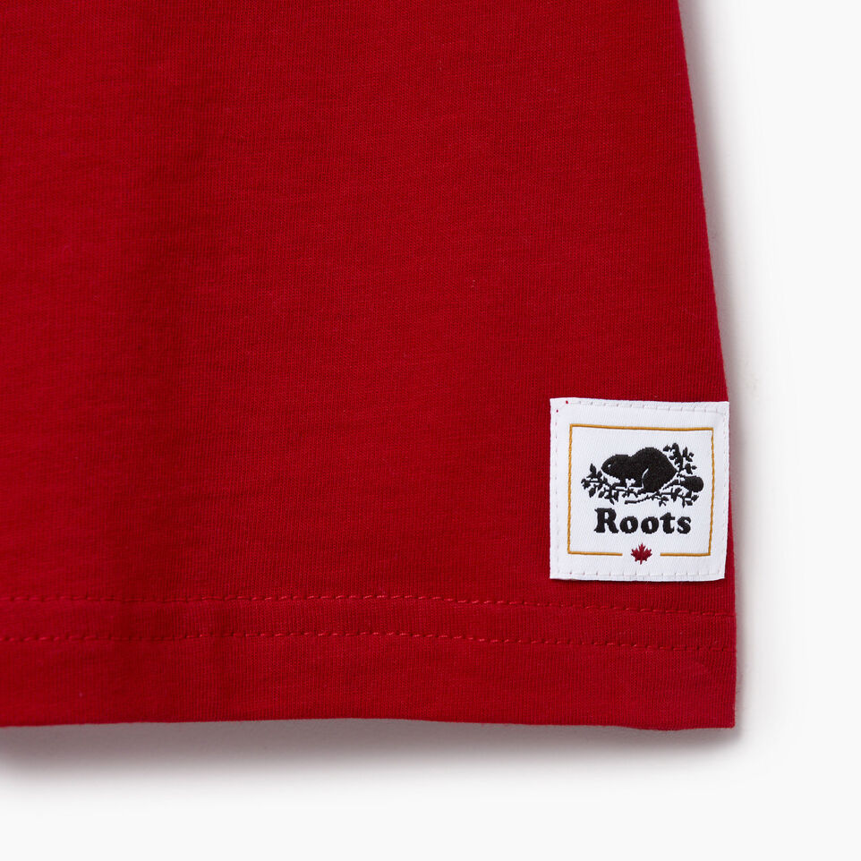 Roots-Kids Our Favourite New Arrivals-Toddler Canada T-shirt-Sage Red-C