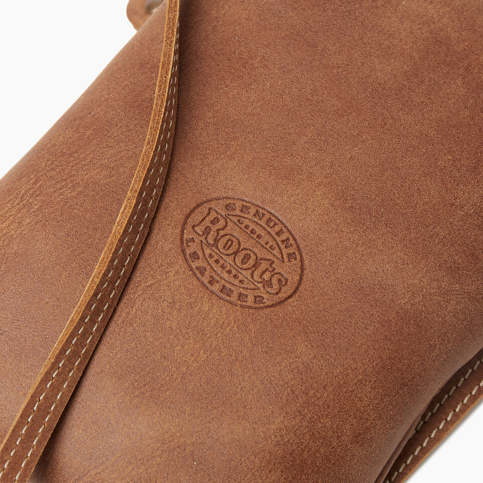 Roots-Leather New Arrivals-Hanging Pouch Tribe-Natural-E