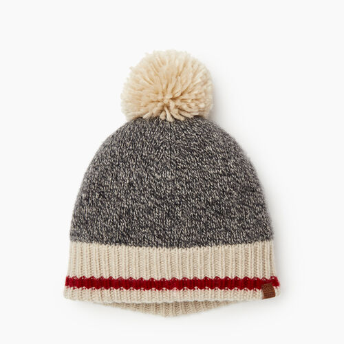 Roots-Women Categories-Roots Cabin Pom Pom Toque-Grey Oat Mix-A