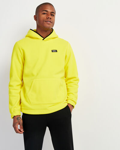 Roots-Men Sweatshirts & Hoodies-Polartec® x Roots Journey Kanga Hoody-Chartreuse-A