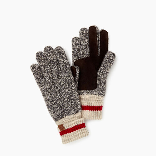 Roots-Women Categories-Womens Roots Cabin Glove-Grey Oat Mix-A