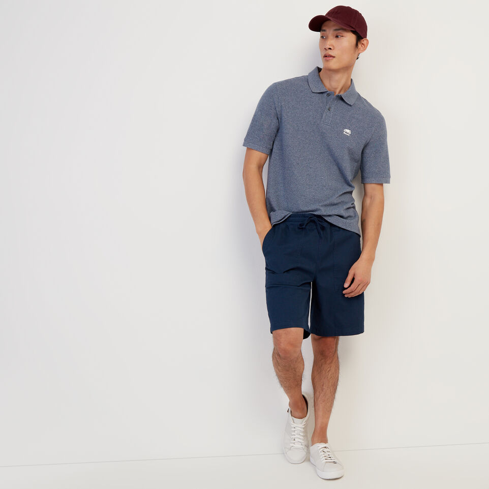 Roots-Men New Arrivals-Heritage Pique Polo-Cascade Blue Pepper-B