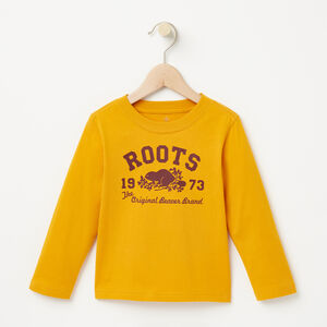 Roots-Sale Toddler-Toddler Roots Beaver T-shirt-Yellow Shadow-A