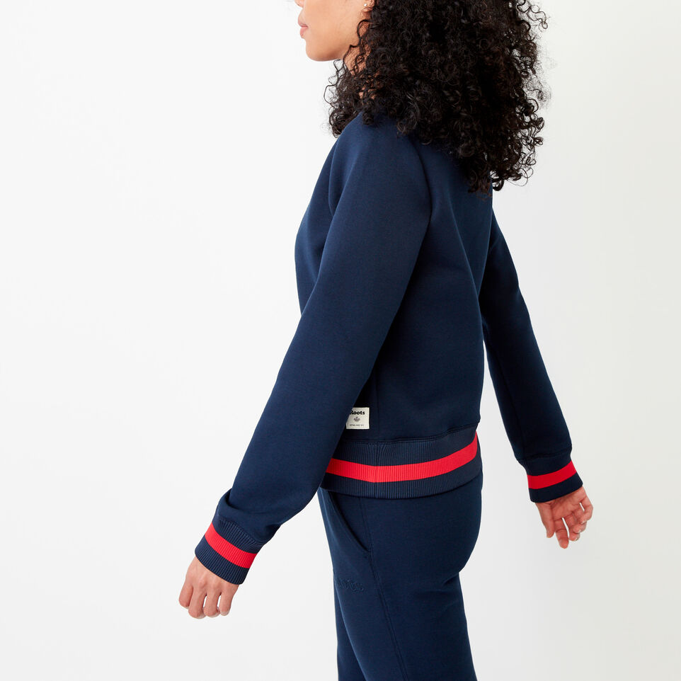 Roots-Women Our Favourite New Arrivals-Mahone Crew Sweatshirt-Navy Blazer-C
