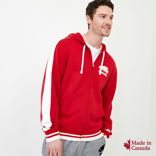 Roots-Men Canada Collection By Roots™-Canada Zip Hoody-Sage Red-A