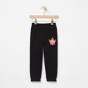 Roots-Kids Canada Collection-Toddler Heritage Canada Slim Sweatpant-Black-A