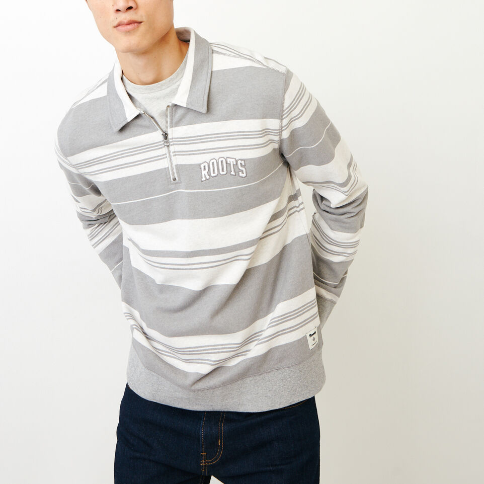 Roots-undefined-Rugby Stripe Zip Polo-undefined-A
