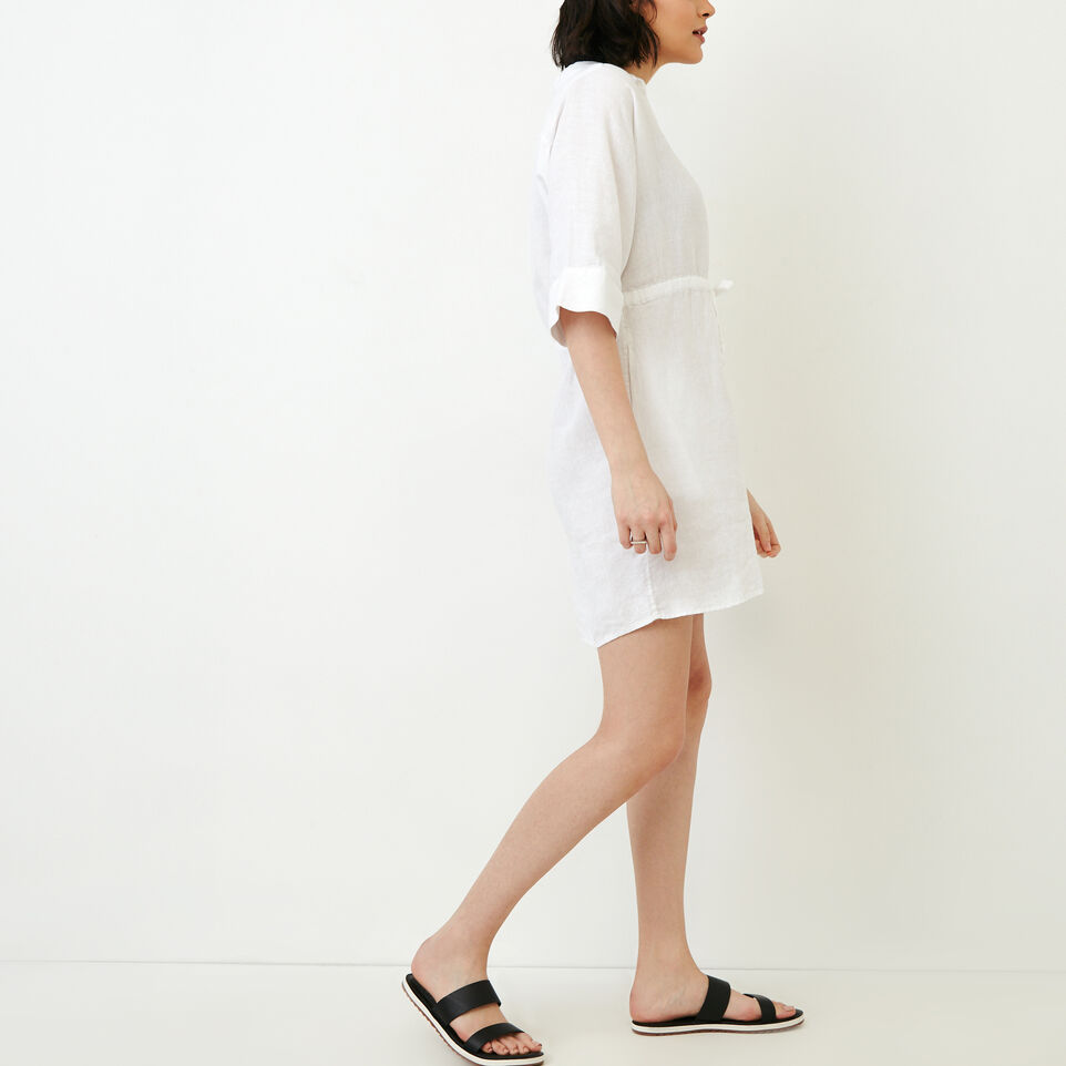 Roots-Women Our Favourite New Arrivals-Weymouth Dress-White-C
