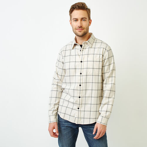 Roots-Men Tops-Lightweight Flannel Shirt-Wind Chime-A