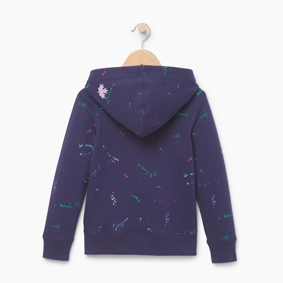 Roots-Clearance Kids-Girls Splatter Full Zip Hoody-Eclipse-B