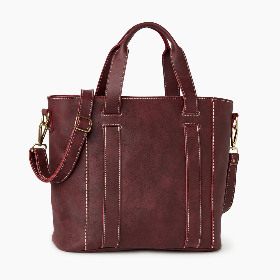 Roots-Leather  Handcrafted By Us Our Favourite New Arrivals-Victoria Tote-Crimson-C