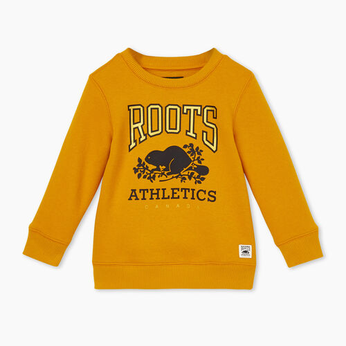 Roots-New For January Rba Collection-Toddler RBA Crew Sweatshirt-Golden Yellow-A