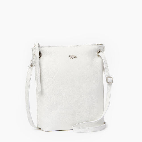 Roots-Leather Crossbody-Festival Bag-White-A