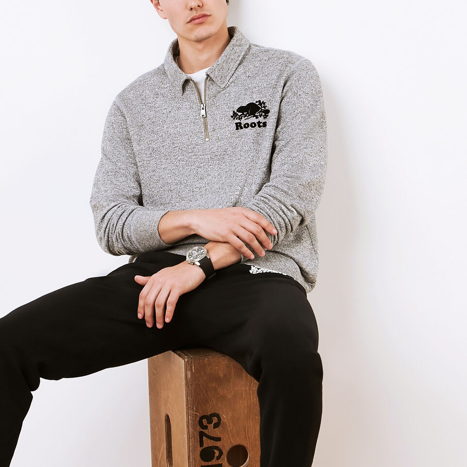 Roots-undefined-Roots Salt and Pepper Original Zip Polo-undefined-A