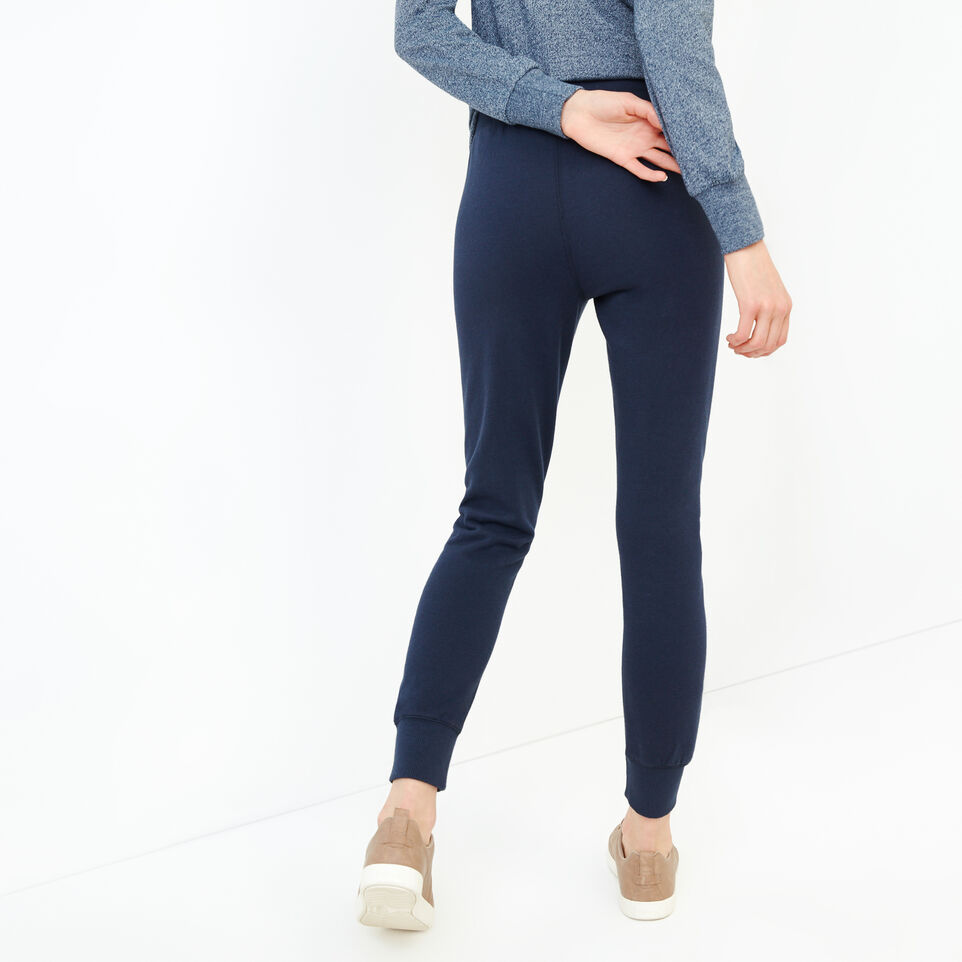 Roots-Women Our Favourite New Arrivals-Stamps Slim Sweatpant-Navy Blazer-D